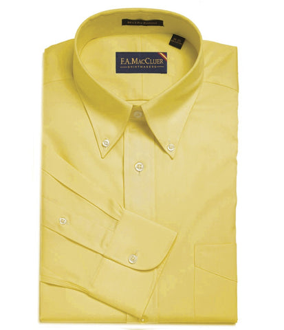 Yellow Classic Pinpoint Button Down