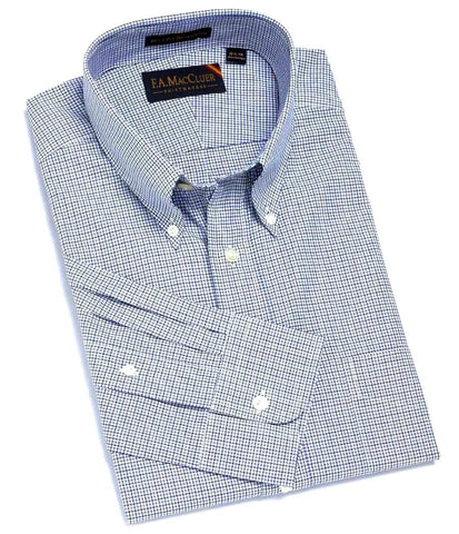 Blue Classic Tattersall Check Buttondown