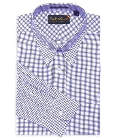 Windowpane Button Down