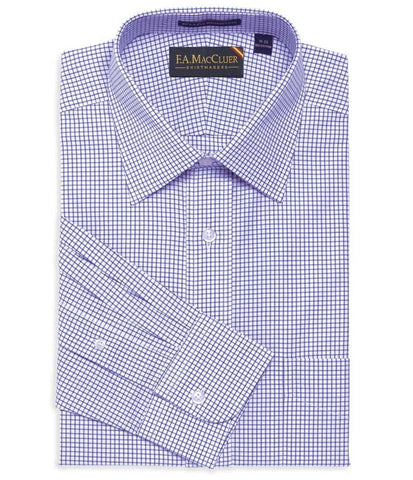 Windowpane Spread Collar