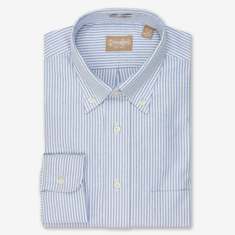 Gitman Shirt Oxford Blue Stripe - Le Monsieur