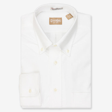 Gitman Shirt Oxford White - Le Monsieur