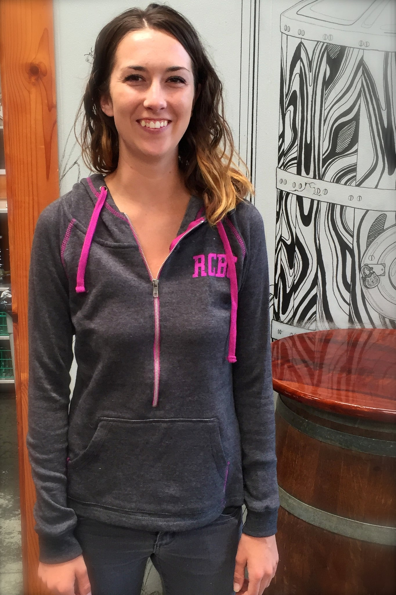 Women's 1/2 Zip-Up Sweatshirt
