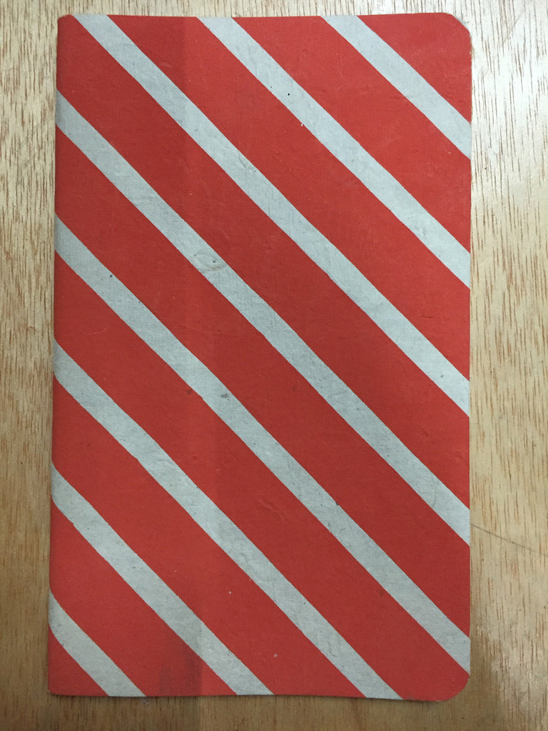 Notebook - red stripes