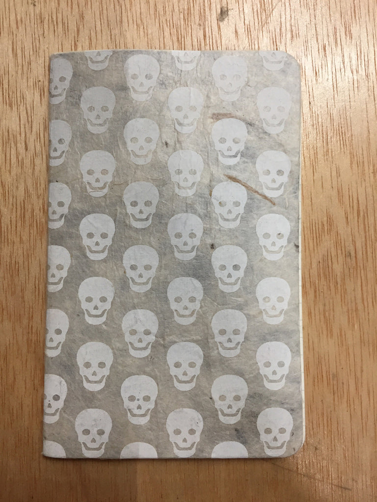 Notebook - white skulls
