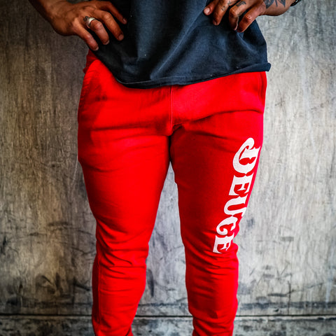 DEUCE Joggers Red