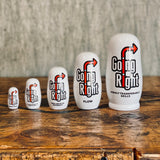 'Going Right' Nesting Doll