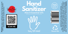 Hand Sanitizing Gel w/ 70% Alcohol, Pure Aloe Vera and Essential Oils - 1oz