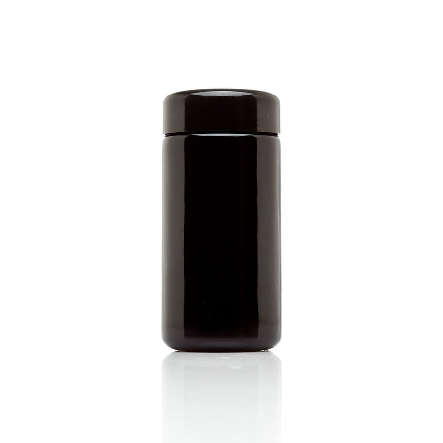 JingJar™ 500 ml (17 fl oz) Tall Black Ultraviolet Miron Glass Jar