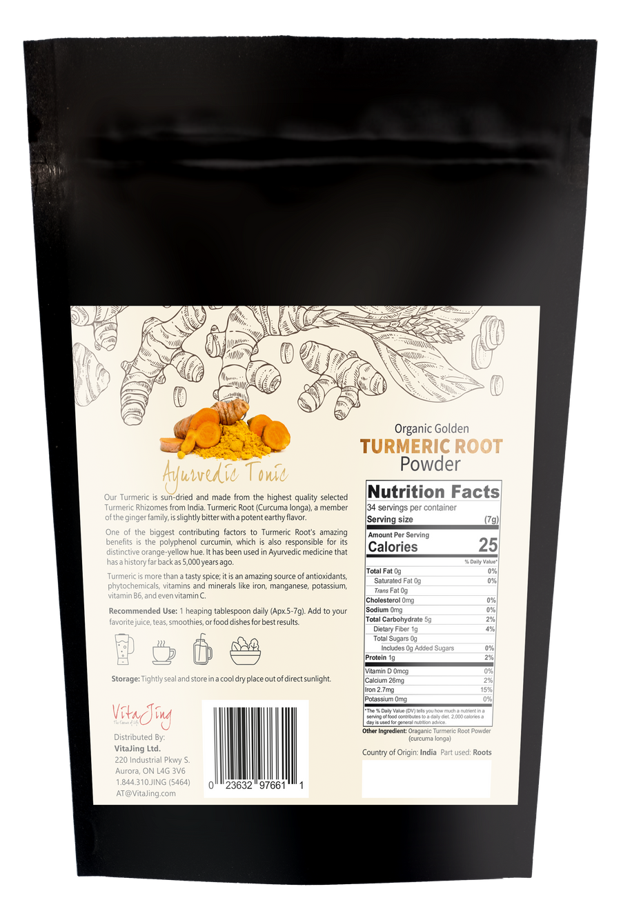 Organic Golden Turmeric Powder
