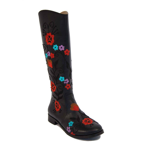 Gypsy Tall Embroidered Leather 3