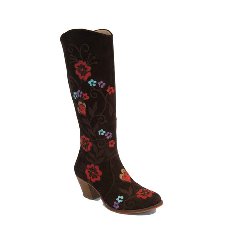 Carmel Tall Melanie Stitching Leather Boot