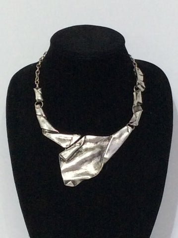 Turkish Silver Free Form Necklace