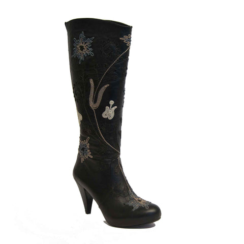 Trixi Tall Embroidered Leather 1