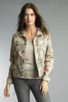 Reversible Khaki Floral Jacket