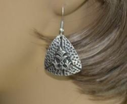 Textured Triangular Earrings