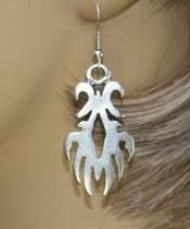Antique Silver Toned Turkish Earrings