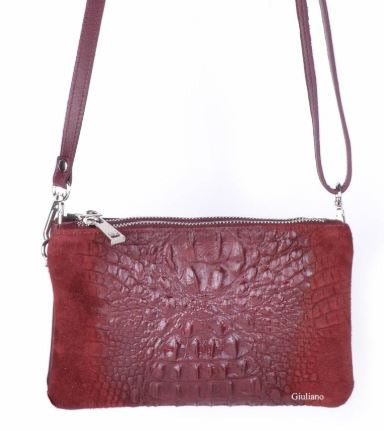 Crocodile Embossed Italian Purse