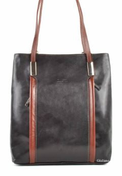 Medium Size Italian Leather Backpack Purse