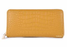 Crocodile Embossed Italian Leather Wallet