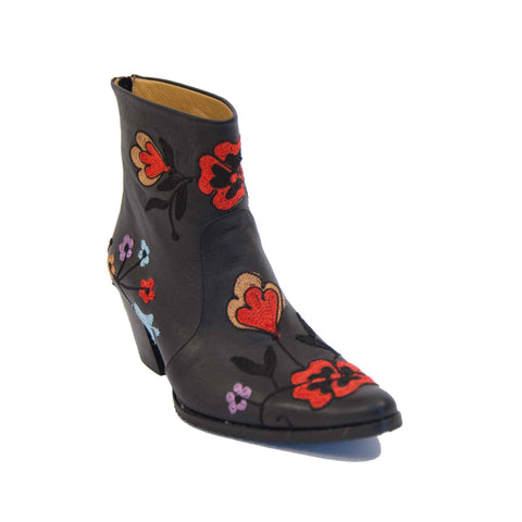 Cheyenne Short Embroidered Leather Boot