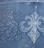Yoga Pants with Fleur-de-Lis Wing Back Design