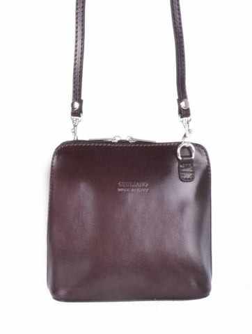 Smooth Italian Leather Small Crossbody Purse