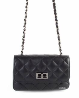Quilted Italian Leather Shoulder Bag