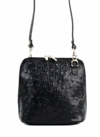 Ostrich Textured Crossbody Purse