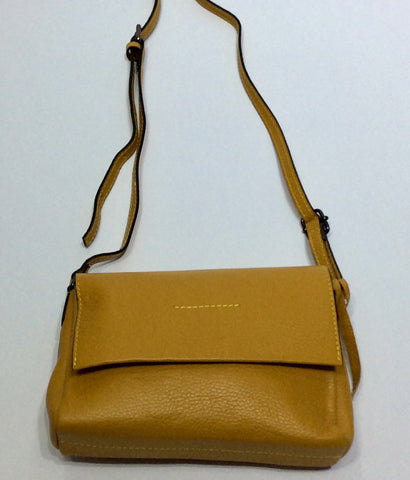 Italian Leather Shoulder Bag with 3 Compartments