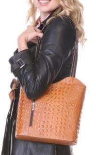 Wave Design Italian Leather Backpack/Purse