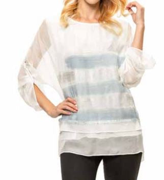 Layered Sheer Silky Overlay Top