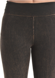 Brown Jewel Pocket Yoga Pants