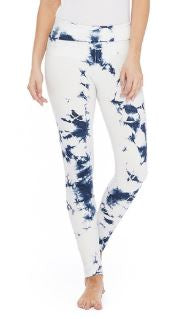 Blue Tie-Dyed Leggins