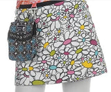 "Children's Reversible 11"" Length Cotton Skirt with Detachable Purse"