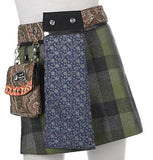 "Children's Reversible 13"" Wool Skirt with Detachable Purse"