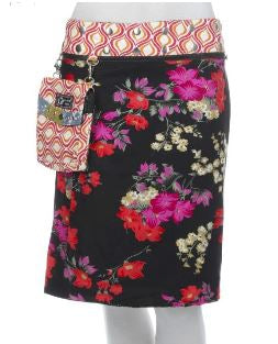 "Reversible Cotton Skirt with Detachable Pouch (sizes 0-12 and 21"" in length)"