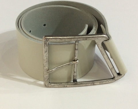 Wide Taupe/Grey leather belt