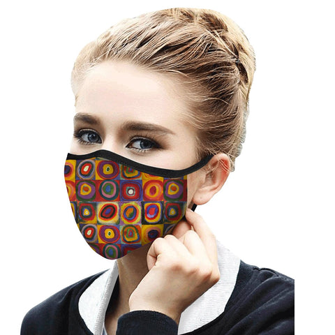 Kandinsky Circles Face Mask