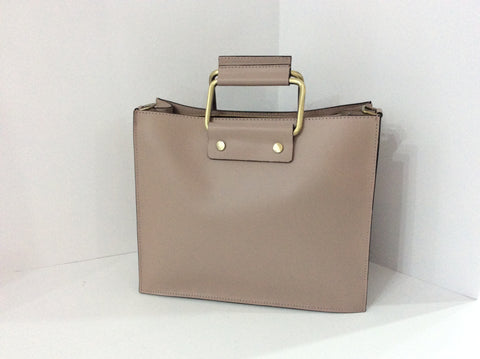 Elegant Italian Leather Handbag with detachable shoulder strap