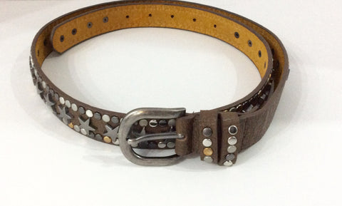Belt-Vegan belt made in Italy with decorative studding