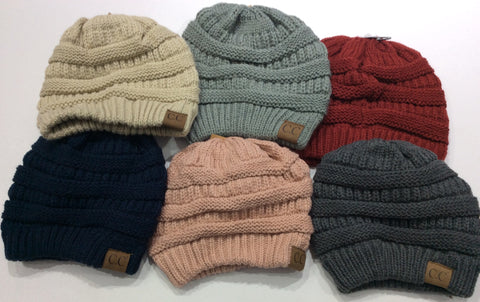 Solid Color Knit Beanie