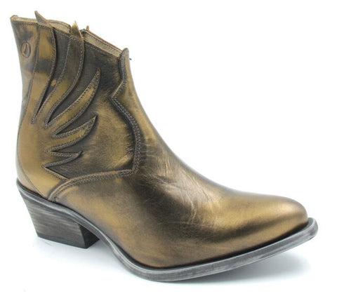 Metallic Bronze Winged Boots