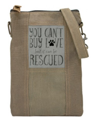Rescue Love Military Tent Crossbody Purse