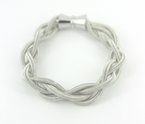 Braided Piano Wire Multi Loop Bracelet