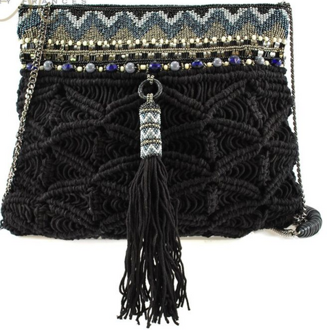 Purse of Macrame and hand-beaded craftsmanship