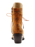 Lace Up Boots with Side Zippers