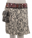 "Rayon Reversible Skirt with Detachable Pouch (sizes 0-12 and 22"" in length)"