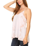 Tie Dyed Cut-Out Back Top