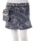 "Rayon Reversible Skirt with Detachable Pouch (sizes 0-12 and 14"" in length)"
